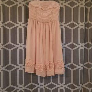 LC pink blush strapless dress